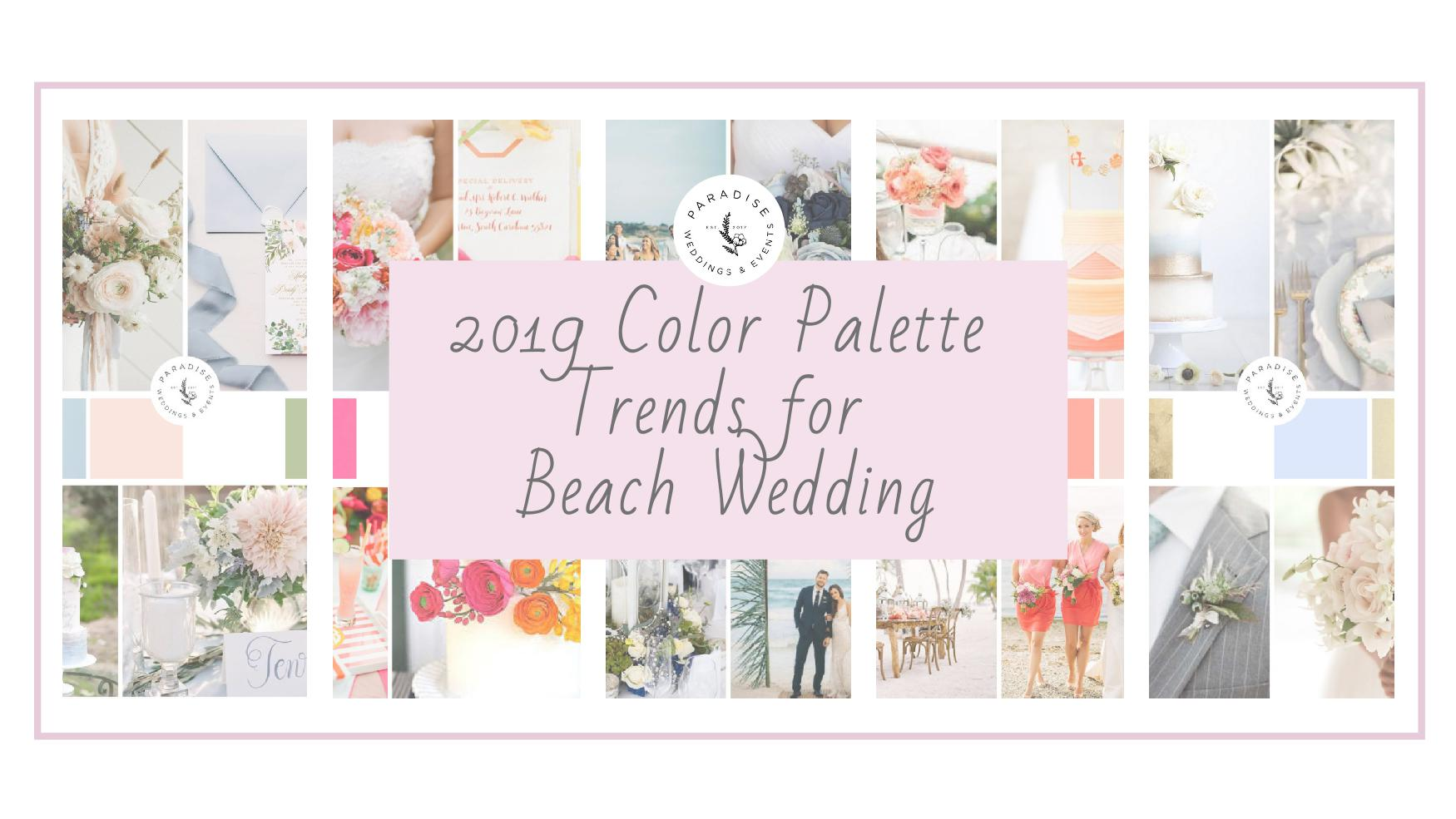 colors for wedding on the beach wedding