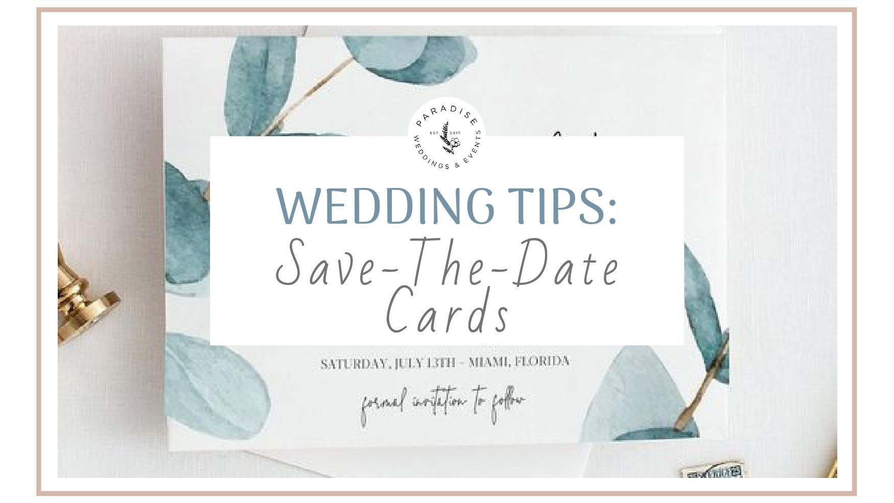 save the date cards for wedding stationary