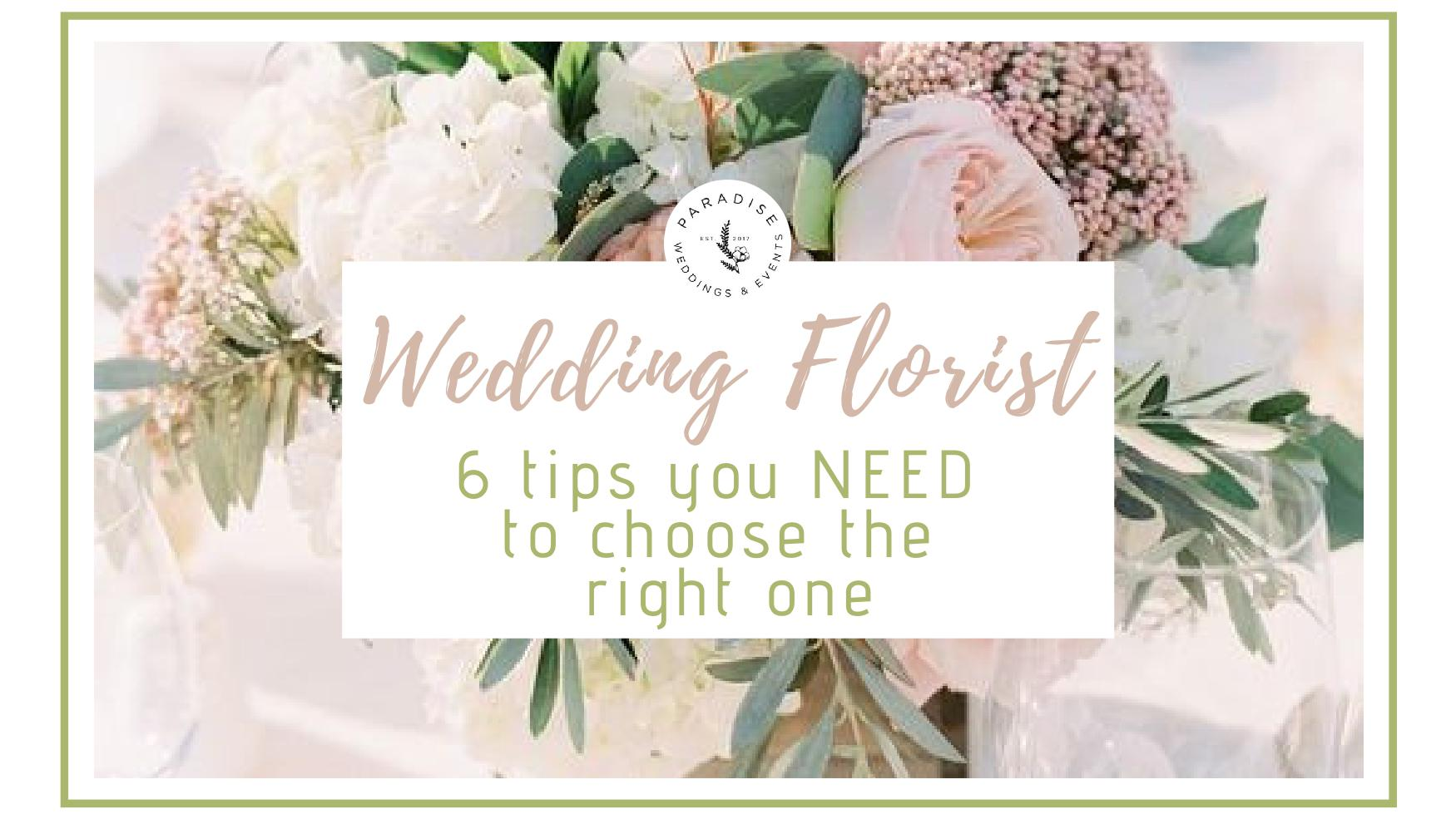 wedding florist tips