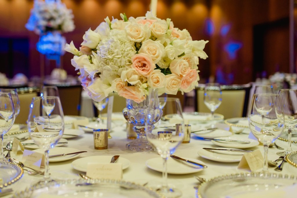 flowers at table